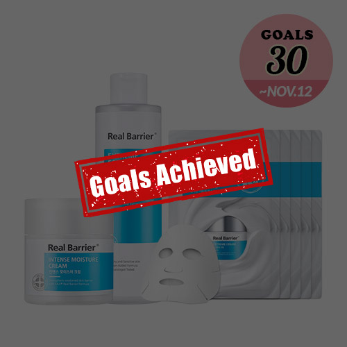 [G-Buy] Real Barrier Intense Moisture Cream 50ml + Essence Toner 190ml + Cream Mask 30ml *5ea