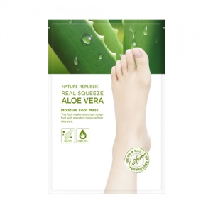 NATURE REPUBLIC Real Squeeze Aloe Vera Moisture Foot Mask (16ml)