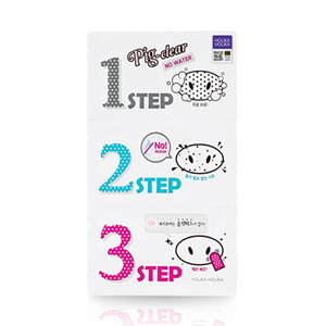 Holika Holika Pig Clear Black Head 3-Step Kit No Water 3ea