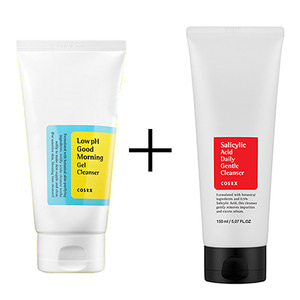 Cosrx Low pH Good Morning Gel Cleanser 150ml + Salicylic Acid Daily Gentle Cleanser 150ml